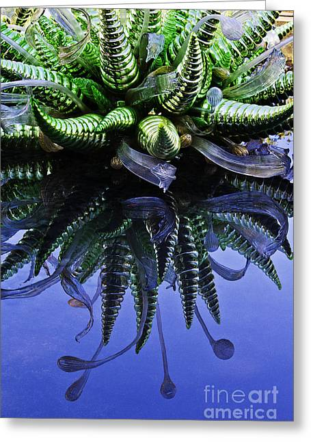 Installation Art Greeting Cards - Chihuly glass reflections Greeting Card by Elena Nosyreva