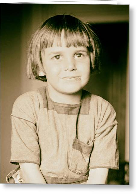 Coogan Greeting Cards - Child Actor Jackie Coogan 1920 Greeting Card by Mountain Dreams