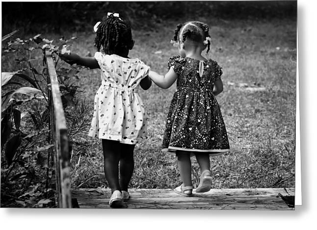 Sundress Greeting Cards - Childhood Friends Greeting Card by Mountain Dreams