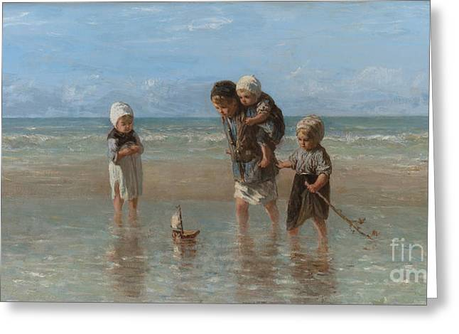 Orthodox Paintings Greeting Cards - Children of the Sea Greeting Card by Jozef Israels