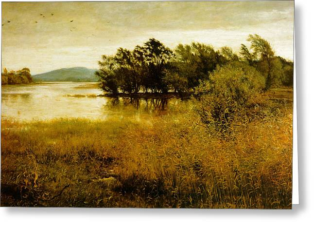 Colors Of Autumn Greeting Cards - Chill October Greeting Card by John Everett Millais