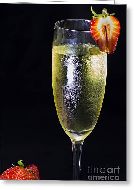 Wine Photographs Greeting Cards - Chilled Wine Greeting Card by Brian Roscorla