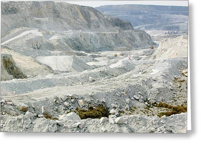 China Clay Workings Near St Austell Greeting Card by Ashley Cooper