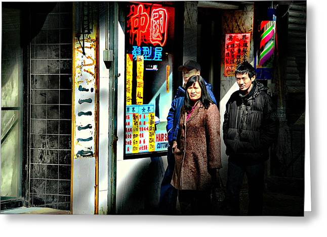 Store Fronts Greeting Cards - China Town Greeting Card by Diana Angstadt