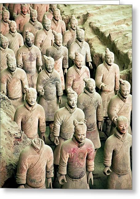 China, Xi'an, Qin Shi Huang Di Greeting Card by Miva Stock