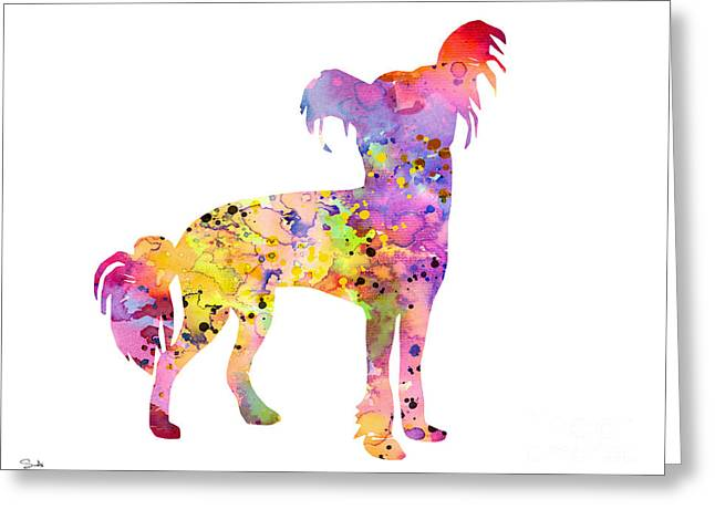 Chinese Dogs Greeting Cards - Chinese Crested Greeting Card by Luke and Slavi