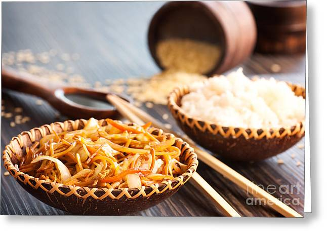 Mythja Greeting Cards - Chinese food Greeting Card by Mythja  Photography