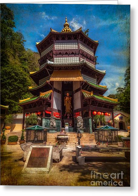 Religious Digital Greeting Cards - Chinese Temple Greeting Card by Adrian Evans