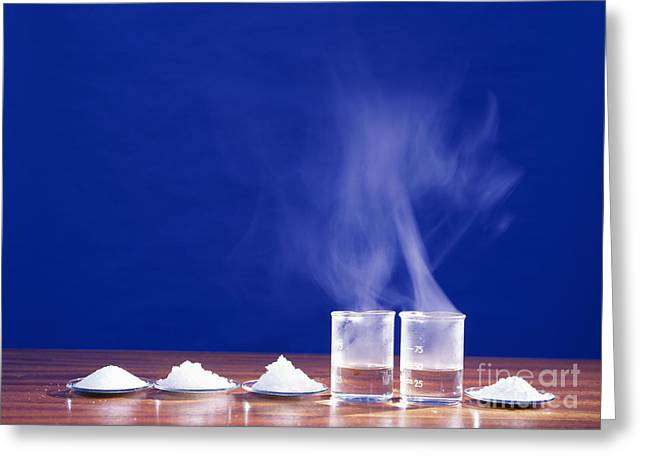 Solid State Greeting Cards - Chloride Chemistry Greeting Card by Andrew Lambert Photography