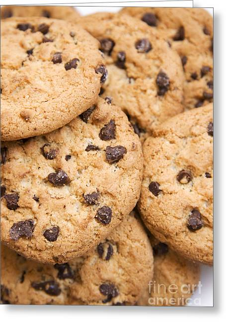 Choc Chip Cookies Greeting Card by Jorgo Photography - Wall Art Gallery