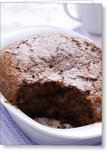 Table-cloth Greeting Cards - Chocolate Pudding Greeting Card by Amanda And Christopher Elwell