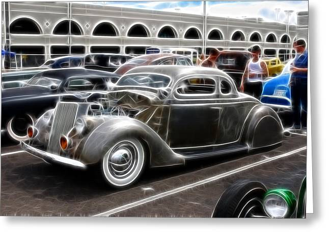 American Grafitti Greeting Cards - Chopped Ford Coupe Greeting Card by Steve McKinzie