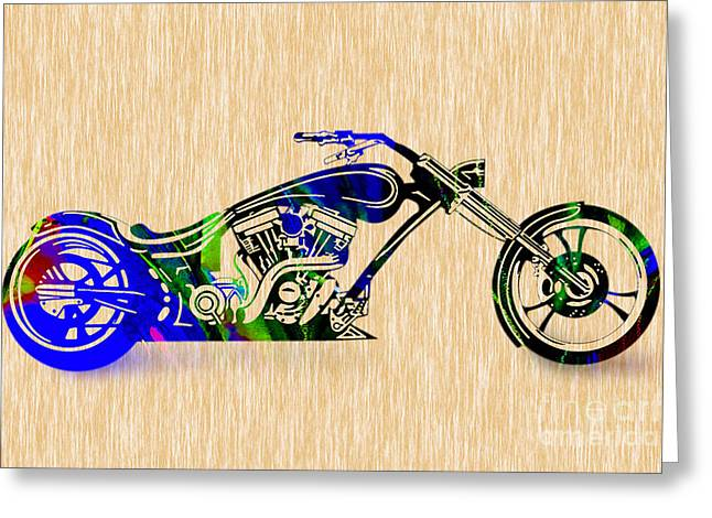Chopper Greeting Cards - Chopper Painting. Greeting Card by Marvin Blaine