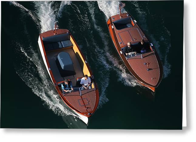 Mahogany Greeting Cards - Chris-Craft Cousins Greeting Card by Steven Lapkin