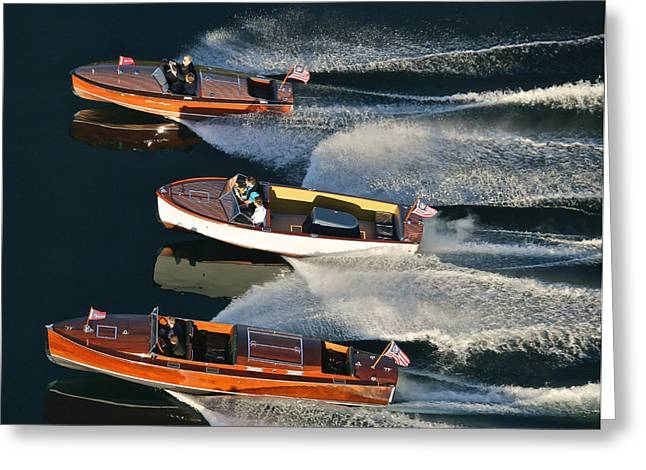 Mahogany Greeting Cards - Chris-Craft Runabouts Greeting Card by Steven Lapkin