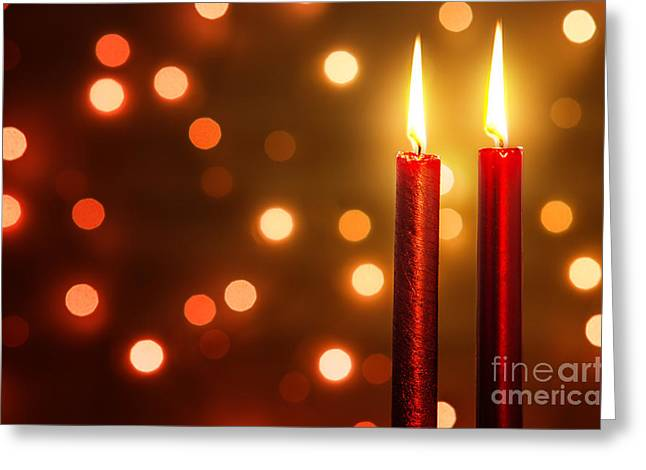 Bright. Table Greeting Cards - Christmas Ambiance Greeting Card by Carlos Caetano