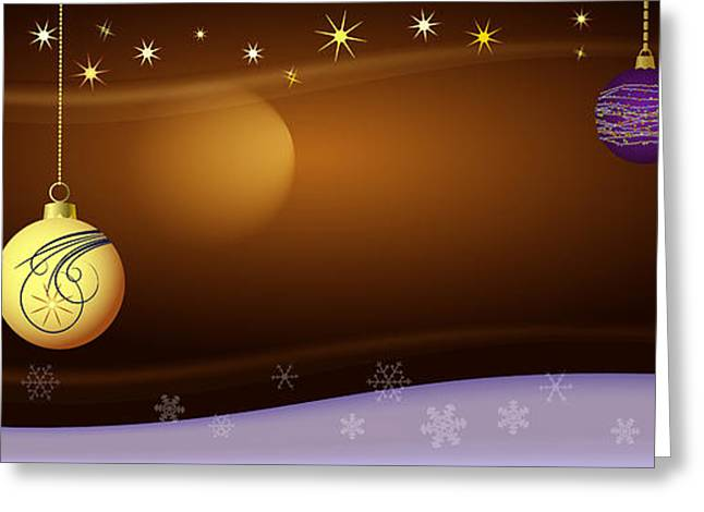 Christmas Eve Greeting Cards - Christmas background Greeting Card by Michal Boubin