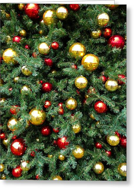 Trimmings Greeting Cards - Christmas baubles Greeting Card by Les Cunliffe
