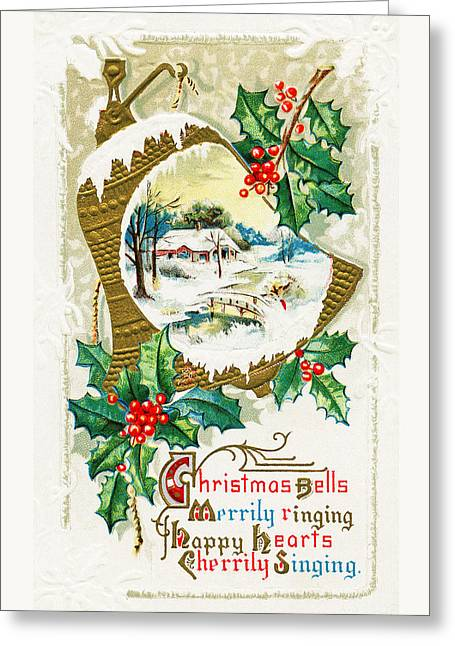 Christmas Greeting Photographs Greeting Cards - Christmas Bells Greeting Card by Munir Alawi