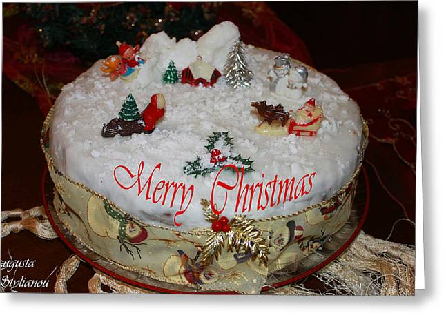 Hostility Greeting Cards - Christmas Cake Greeting Card by Augusta Stylianou