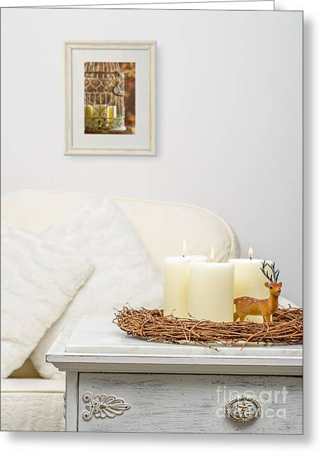 Winter Photos Greeting Cards - Christmas Candles Greeting Card by Amanda And Christopher Elwell