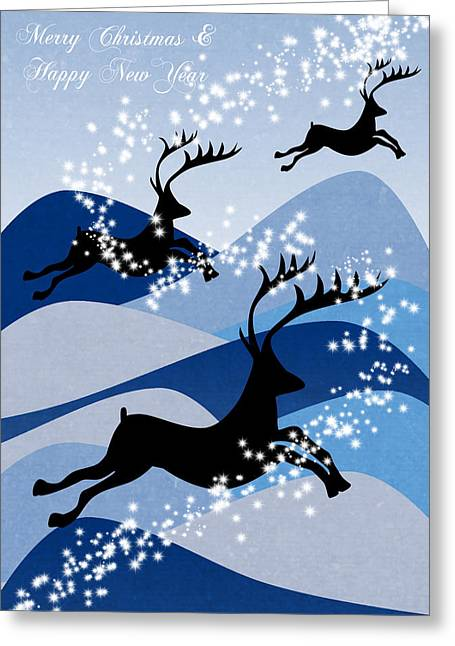 Christmas Card Digital Greeting Cards - Christmas card 2 Greeting Card by Mark Ashkenazi