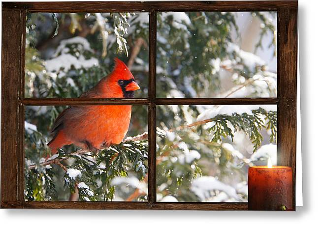 Unique Christmas Cards Greeting Cards - Christmas Cardinal. Greeting Card by Kelly Nelson
