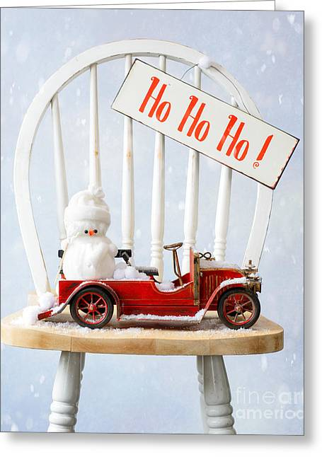 Snowball Greeting Cards - Christmas Greeting Card by Amanda And Christopher Elwell