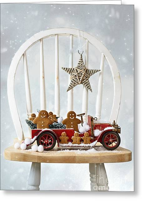 Snowball Greeting Cards - Christmas Gingerbread Greeting Card by Amanda And Christopher Elwell