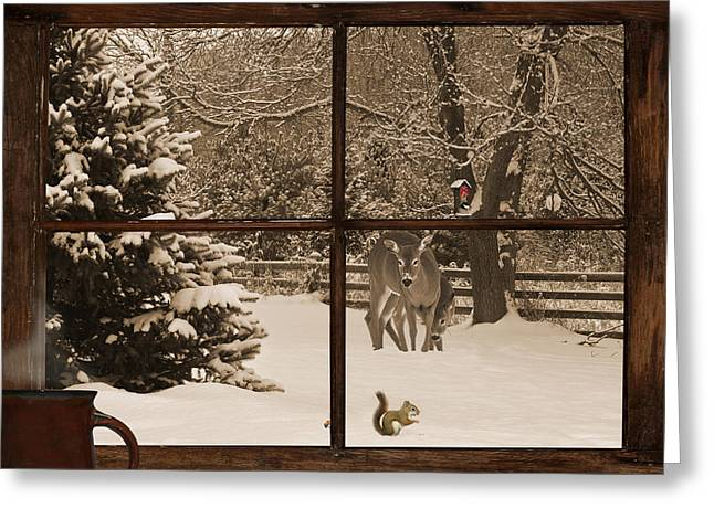 Unique View Greeting Cards - Christmas Morning Greeting Card by Kelly Nelson