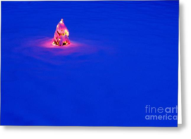 Festivities Greeting Cards - Christmas Tree Covered In Snow Greeting Card by Jim Corwin