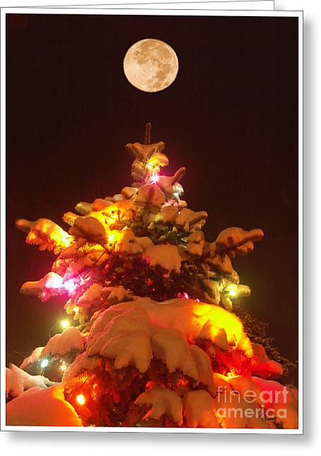 Christmas Tree Seneca Falls Greeting Card by Tom Romeo