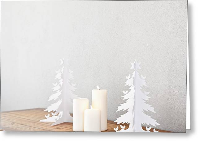 Candle Lit Greeting Cards - Christmas tree Greeting Card by Ulrich Schade