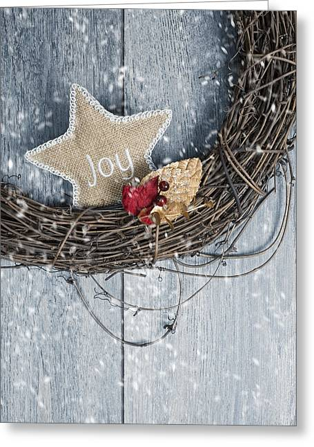 December Greeting Cards - Christmas Wreath Greeting Card by Amanda And Christopher Elwell