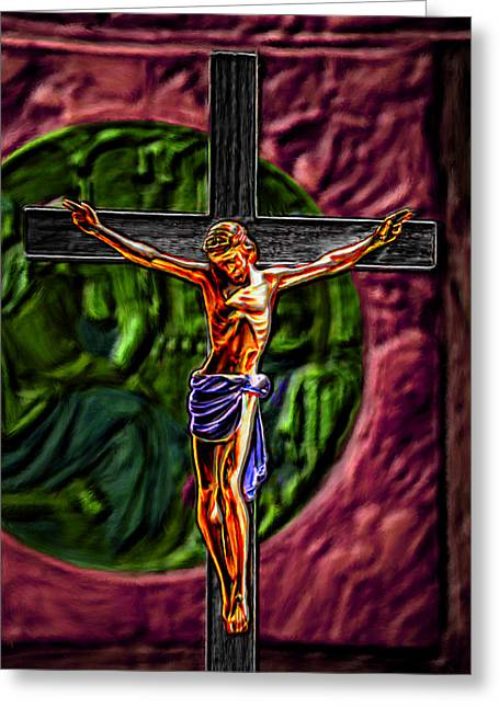 Christs Crucifixion  Greeting Card by Bruce Nutting