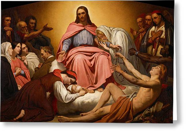 Christus Consolator Greeting Card by Ary Scheffer