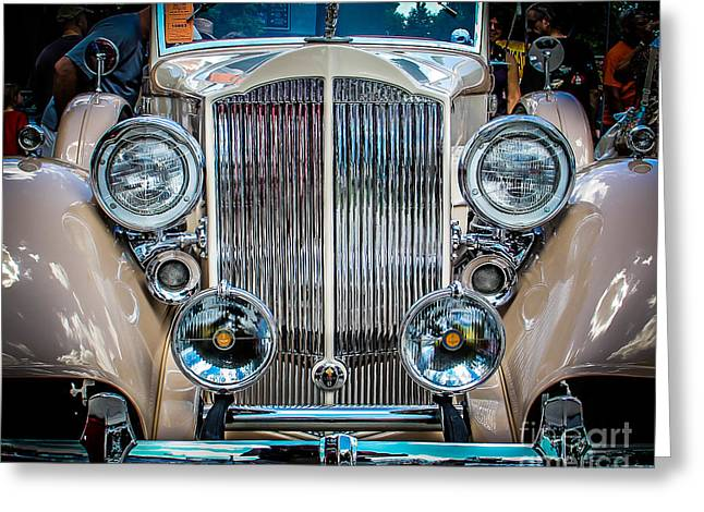 Station Wagon Greeting Cards - Chrome Classic Greeting Card by Perry Webster