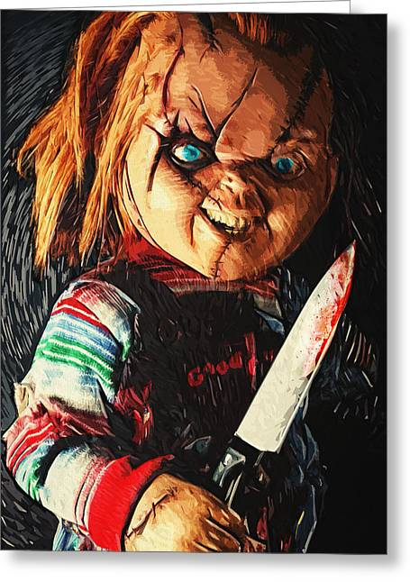 Jason Voorhees Greeting Cards - Chucky Greeting Card by Taylan Soyturk