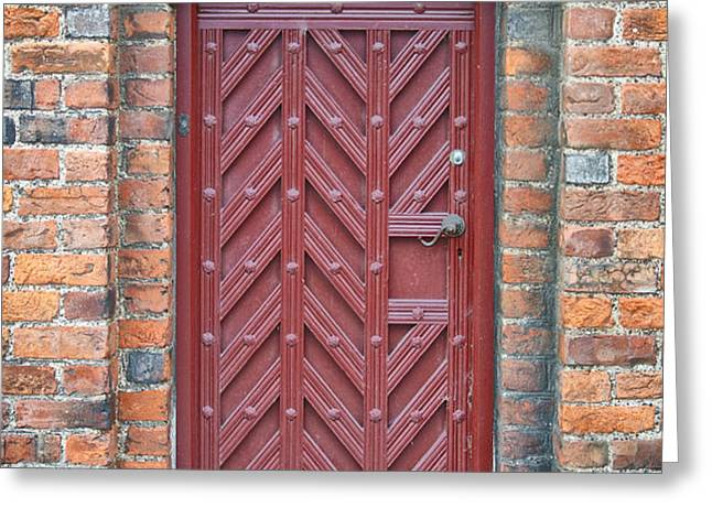 Church Door 02 Greeting Card by Antony McAulay