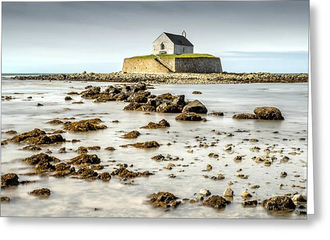 The North Digital Art Greeting Cards - Church in the Sea Greeting Card by Adrian Evans