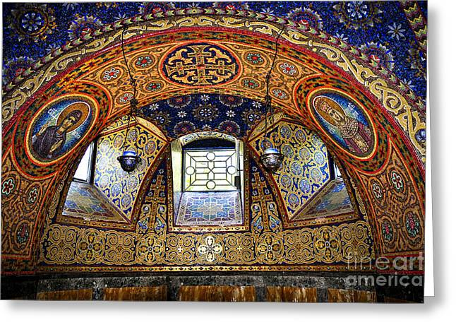 Mausoleum Greeting Cards - Church interior Greeting Card by Elena Elisseeva