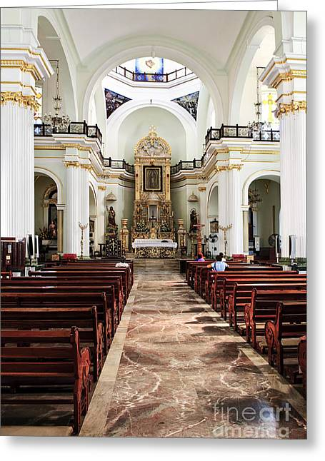 Sacred Greeting Cards - Church interior in Puerto Vallarta Greeting Card by Elena Elisseeva