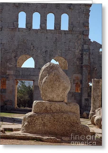 San Simeon Greeting Cards - Church Of Saint Simeon, Syria Greeting Card by Catherine Ursillo