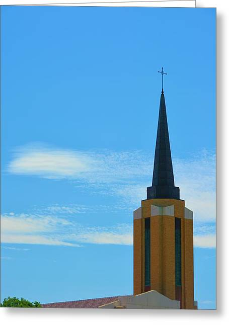 Christain Cross Greeting Cards - Church Steeple Greeting Card by Richard Jenkins