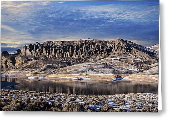 Reflections Of Sky In Water Greeting Cards - Cimarron Colorado Chalk Cliffs Greeting Card by Janice Rae Pariza