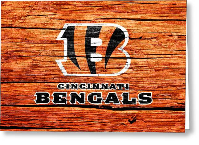 Win Greeting Cards - Cincinnati Bengals Barn Door Greeting Card by Dan Sproul