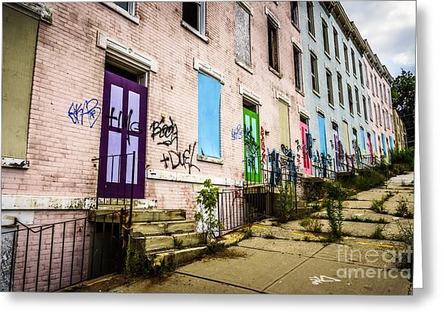 Cincinnati Glencoe-auburn Row Houses Picture Greeting Card by Paul Velgos