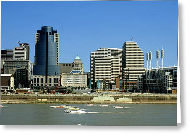 Sports Arenas Greeting Cards - Cincinnati Oh Greeting Card by Panoramic Images