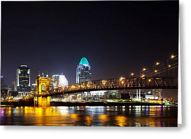 Ohio River Photographs Greeting Cards - Cincinnati Ohio  Skyline Greeting Card by Twenty Two North Photography