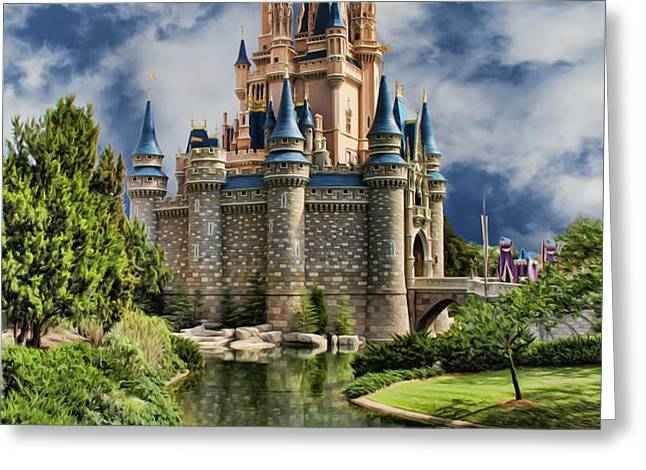 Cinderella Castle II Greeting Card by Lee Dos Santos